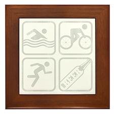 swimbikerunBeer-Grey Framed Tile