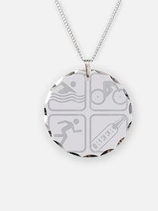 swimbikerunBeer-Grey Necklace