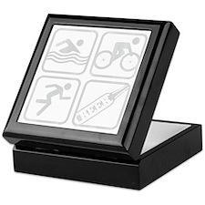 swimbikerunBeer-Grey Keepsake Box