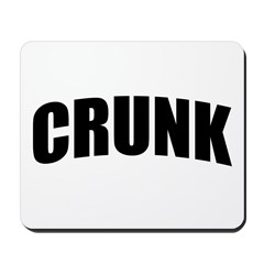 CRUNK Bold Black Mousepad