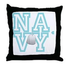 usnavywhite Throw Pillow