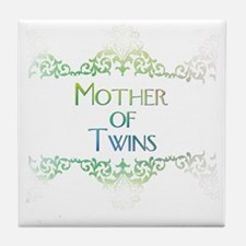 motheroftwinsdecorated Tile Coaster