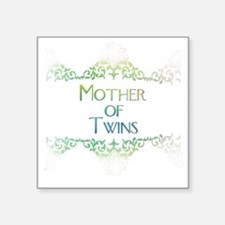 """motheroftwinsdecorated Square Sticker 3"""" x 3"""""""