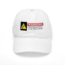 fabric warning magnet Baseball Cap