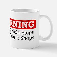 fabric warning magnet Mug