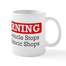 fabric warning magnet Small Small Mug