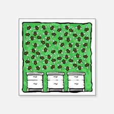 """Bees Around the Hives Square Sticker 3"""" x 3"""""""