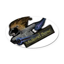 Sheep Attack Oval Car Magnet