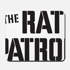 Rat-Patrol-Logo-black Mousepad