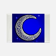 The Celtic Moon Rectangle Magnet