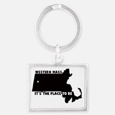 WESTERN MASS ITS THE PLACE TO B Landscape Keychain