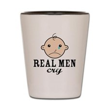 RealMenCry Shot Glass