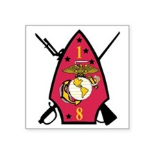 "SSI-1ST  BATTALION-8TH MARI Square Sticker 3"" x 3"""