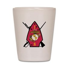SSI-1ST  BATTALION-8TH MARINE RGT Shot Glass