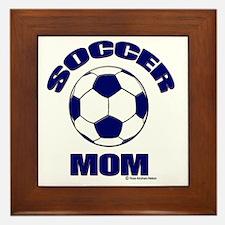 Soccer Mom Blue Framed Tile