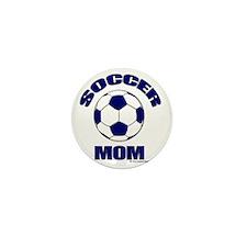 Soccer Mom Blue Mini Button