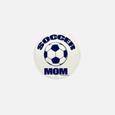 Soccer Mom Blue Mini Button