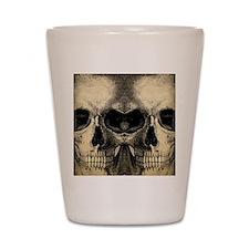 vintage_skull_flipflops Shot Glass