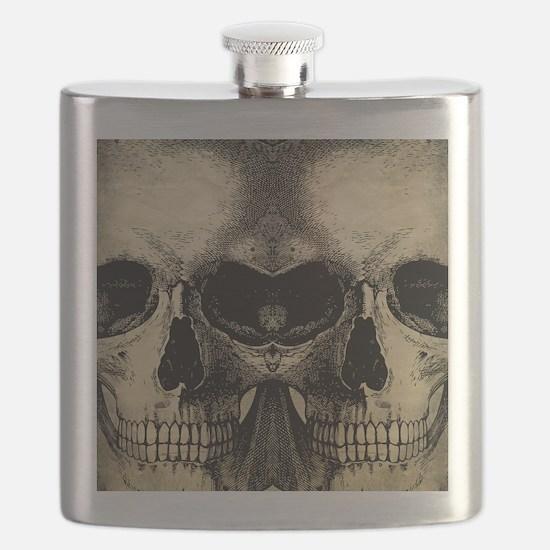 vintage_skull_flipflops Flask