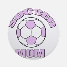 Soccer mom pink Round Ornament
