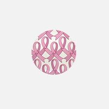 PinkRibnDotStMPtr Mini Button