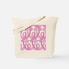 PinkRibnDotStMPtr Tote Bag
