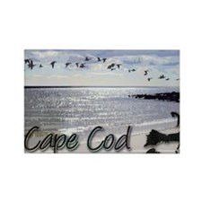 capebluillusbkrnbwtemp_laptop_ski Rectangle Magnet