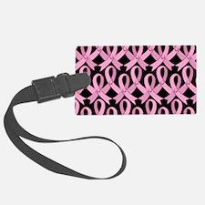 PinkRibnDotStLapTcB Luggage Tag