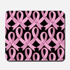 PinkRibnDotStLapTcB Mousepad