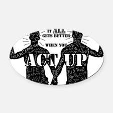 It All Gets Better Oval Car Magnet
