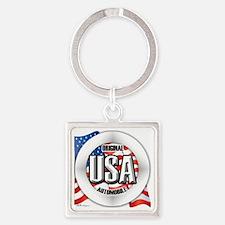 USAAUTO Square Keychain