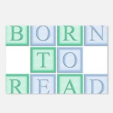 Blue_Green_Born_to_read_5 Postcards (Package of 8)