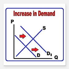 "Increase in Demand Square Car Magnet 3"" x 3"""