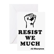 resistwemuchsharpton copy Greeting Card