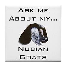 Goat Ask Nubian Tile Coaster