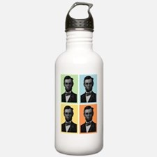 4 Score Abraham Lincol Water Bottle