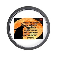 SHOW RESPECT FOR ALL Wall Clock