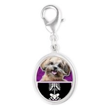 LilSpookyShihPooMaggie Silver Oval Charm
