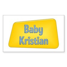 Baby Kristian Rectangle Decal