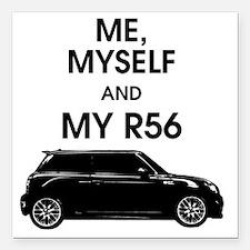 "Me, Myself and My Mini Square Car Magnet 3"" x 3"""