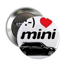 """Happy Face Heart Mini 2.25"""" Button"""