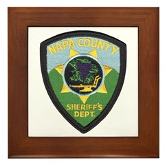 Napa County Sheriff Framed Tile