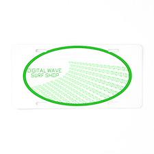 barrelwaverightbgothicgreen Aluminum License Plate