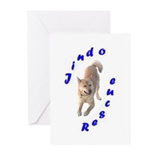 Angel Rescue Logo color Greeting Cards