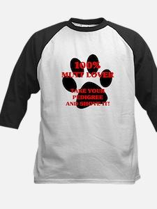 100% Mutt Lover Kids Baseball Jersey