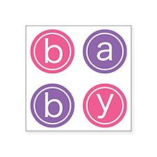 "Baby Circles Square Sticker 3"" x 3"""