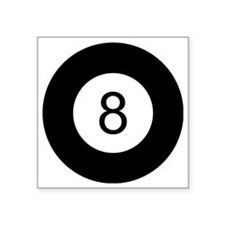"8 Ball Square Sticker 3"" x 3"""