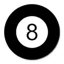 8 Ball Round Car Magnet