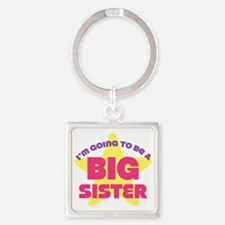 Im Going To Be A Big Sister Square Keychain
