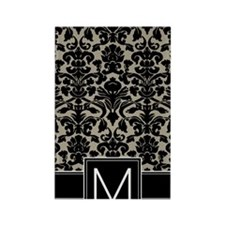 m_monogram_iphone_damask_taupe Rectangle Magnet
